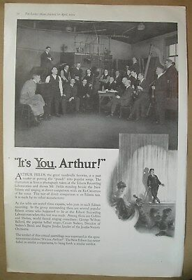 1919 Big ad It's Arthur Fields Edison Recording Labs - Making Rooms Gay & Bright
