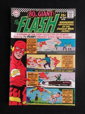Flash #160 DC 1966 - HIGH GRADE - GA Flash and Johnny Quick apps/ 80pg giant!!!