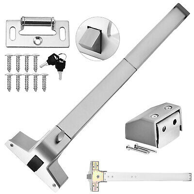 Push Bar Panic Exit Device Stainless Steel Commercial Emergency Door Up