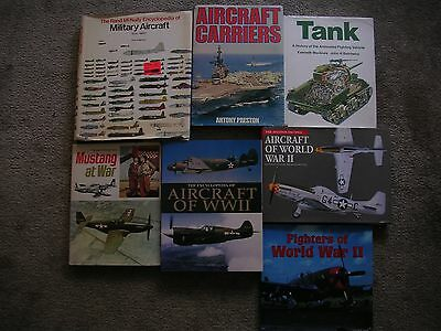 LOT OF 7 WWII US AMERICAN military AIRCRAFT and TANK book  War Fighters