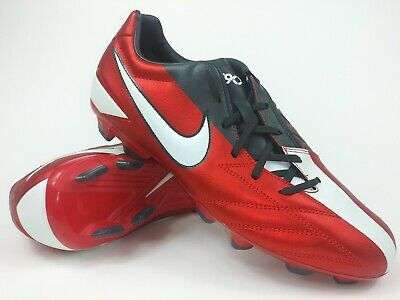 a7ffbe341 Nike Mens Rare T90 Shoot IV FG Soccer Cleats 472547-610 Red US Size 10.5