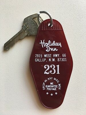 Vintage Mid Century Hotel / Motel Room Key Ring Fob ROUTE 66 231