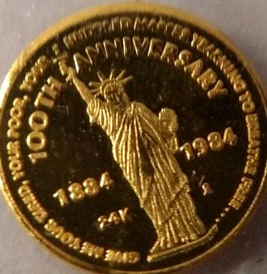 24 K GOLD STATUE of LIBERTY COINS.
