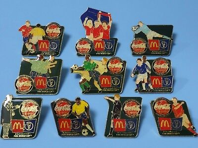 McDonald's/Coca Cola FIFA World Cup 2002 Pins Collection Complete Set