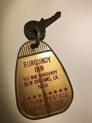 Vintage Mid Century Hotel / Motel Room Key Ring Fob NEW ORLEANS