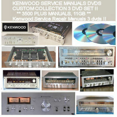Kenwood Service Manuals Schematics, Custom Compilation 3 DVD Collection PDF DVDS