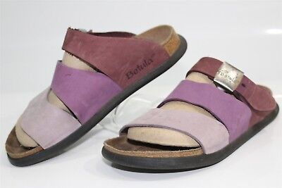 973ab01bb0e Betula By Birkenstock Womens 8 M Purple Leather Three Strap Sandals Shoes  250 ke