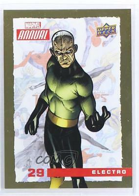2016 Upper Deck Marvel Annual Gold #29 Electro Non-Sports Card 1md