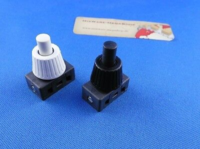 Inbuilt Pressure switch for Lamps 250V 2A White or Black Button
