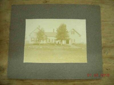 antique PHOTOGRAPH GEORGE ABBOTT thomaston me w/HOME