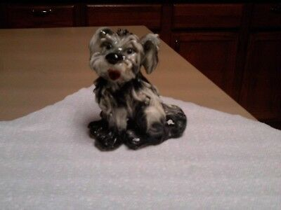 Yorkie Terrier Porcelain Dog Figurine From Italy Spaghetti Style Dog