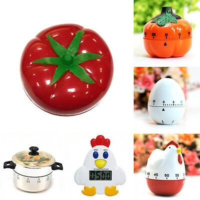 Mini 60 Minute Kitchen Timer Mechanical Alarm Gadget Bell Time Cooking Tool Neu