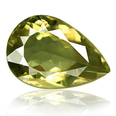 12.59ct 100% Natural earth mined yellow hue green color change diaspore turkey