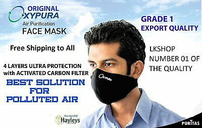 Air Purifying Face Mask w/ Activated Carbon Filter for Joggers Children Worker