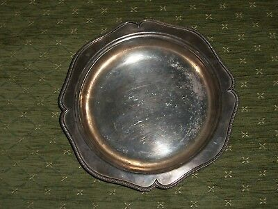 """Edward And Sons Glasgow Sliver Plate 8307 Dish/bowl 9X9"""" Used Condition"""
