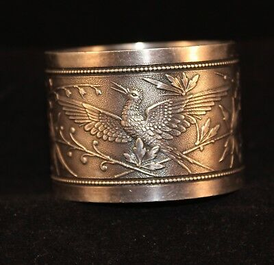 Wood & Hughes Coin Silver Japanese Napkin Ring