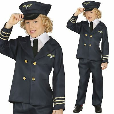 Kids Boys Aviator Pilot Air Cadet Fancy Dress Uniform Book Week Costume Outfit  sc 1 st  PicClick UK & BOYS AIR FORCE Cadet Costume Aviator Fancy Dress Military Fighter ...
