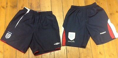 Two Pair Of Vintage Umbro England Shorts Size XLB