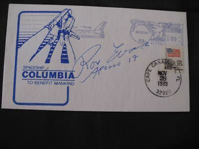 SHUTTLE cover orig.signed Ron EVANS Apollo 17, SPACE