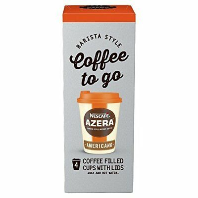 Nescafe Azera To Go Americano Instant Coffee, 4 Cups (Pack of 3, Total 12 Cups)