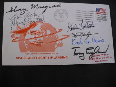 STS 51F landing Edwards Crew signed, SPACE