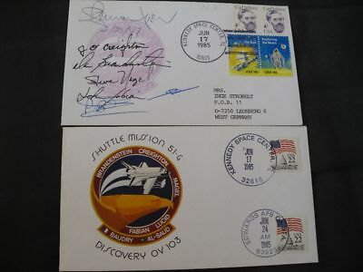 STS 51G launch/landingset orig.signed Crew, SPACE