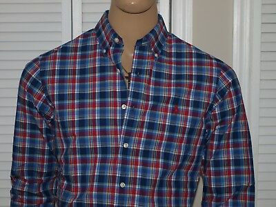 POLO RALPH LAUREN Authentic L/S Poplin  Slim Fit Shirt Red NWT