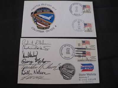 STS 61C launch/landingset orig.signed Crew, SPACE
