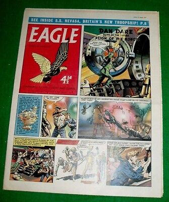 Eagle Comic 23/8/1957 With S.s. Nevasa British Troop Ship Super Cutaway Drawing