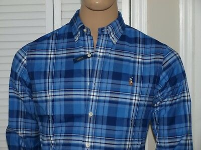 POLO RALPH LAUREN Authentic Oxford Stretch Slim Fit Shirt Blue NWT