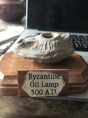 ancient oil lamp Byzantine With Stand