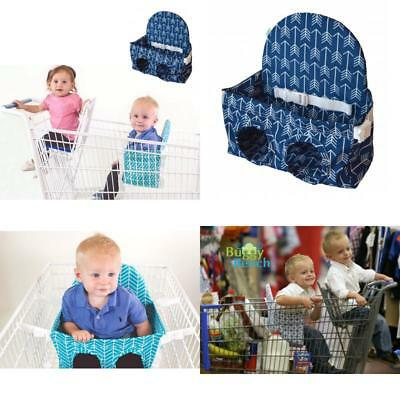Buggy Bench Shopping Cart Seat In Ocean Blue For Baby Toddler And Twins Up To