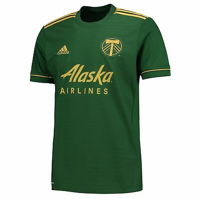 adidas Mens Gents Football Portland Timbers Home Shirt Jersey Top 2017-18