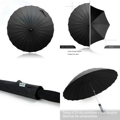 Becko Manual Open & Close Umbrella Long with 24 Ribs, Durable and Strong...