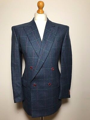 Tommy Nutter vintage Savile Row three piece double breasted tweed suit size 40