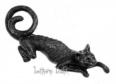 Goth : Alchemy Jolie Barrette Chat Noir Cat Sith Hair Slide Gothique