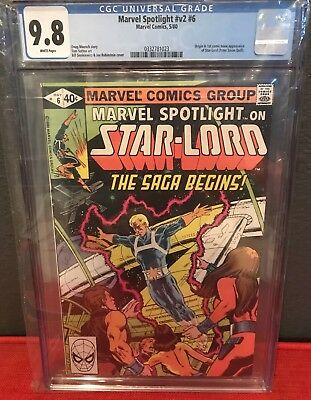 Marvel Spotlight V2 #6 CGC 9.8 White Pages First Appearance Peter Quill Starlord