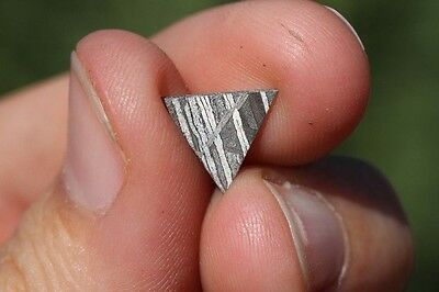 Meteorites for jewelry etched super thin triangle! 10mm X 10mm