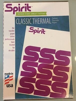 100 Spirit Transfer Paper Tattoo Stencil REPRO FX THERMAL AUTHENTIC Made In USA