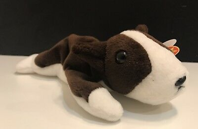 f1c3feef4f5 TY Beanie Baby ~ BRUNO the Bull Terrier Dog ~ Retired with several tag  ERRORS