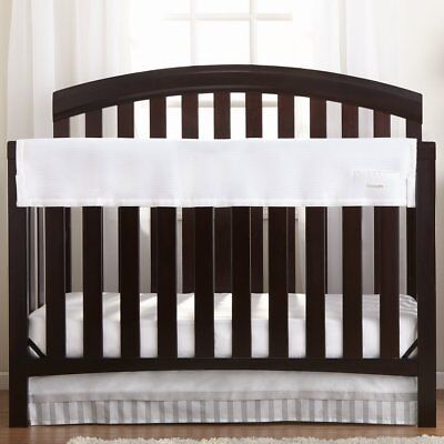 Breathable Baby Railguard Crib Rail Cover White One Size NEW Free Ship!