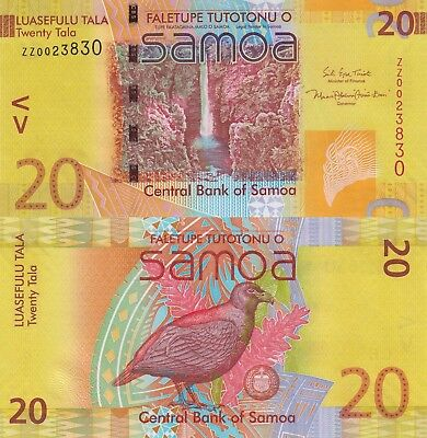 Samoa 20 Tala (2008/2017) - New Sign/Replacement Note/p40-New UNC