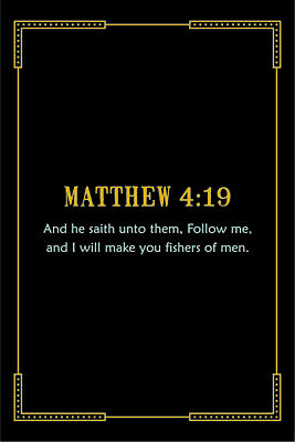 MATTHEW 19:14 BIBLE Verse Poster 18-Inches By 12-Inches