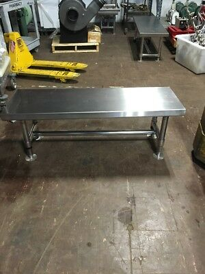 "Metro Stainless Steel Cleanroom Gowning Bench, 48"" Gb1648S"