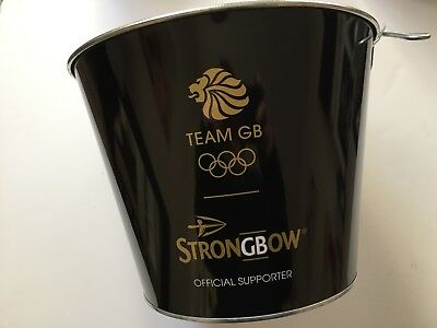 Large Strongbow Black Ice Bucket with Handle Wine Drinks Cooler Champagne