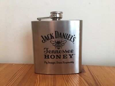 Jack Daniels Tennessee Honey 6oz Stainless Steel Flask