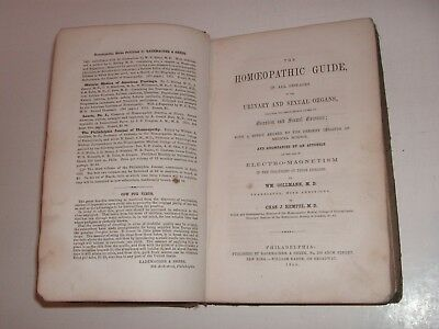 Rare 1855 Homeopathic Medical Book, Disease Urinary, Sexual Organs, Quack