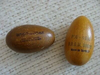 VINTAGE SEWING WOODEN DARNERS ADVERTISING EGG SHAPED PIC QUIC Wimberdar