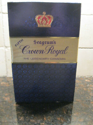 1963 Seagram's Crown Royal Fifth Unopened With Seals, Bag and Box