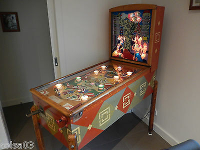pinball machine , Antique coin operated , Vintage arcade ,  coin operated